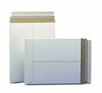 25 7 x 9 No Bend Mailers White Self Seal  Photo Document Flat Rigid Envelope