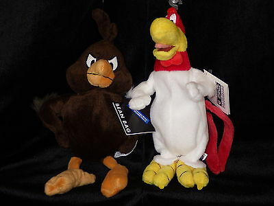 Foghorn Leghorn Henry Hawk bean bag plush set new with all tags WB Store exc