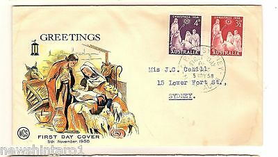 #d35. Wcs First Day Cover - Christmas 1958, Gpo Sydney