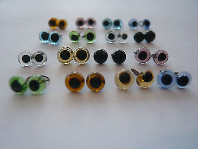 Glass Eyes 4mm - Needle Felting and Miniature Bears - (Looped back easy to sew)