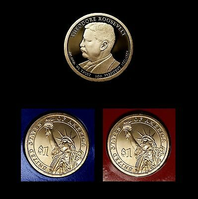 2013 P+D+S Theodore Roosevelt Presidential Dollar Mint Proof Set ~ PD Random Pos