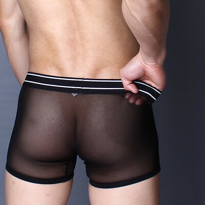 Boxer Noir taille L  transparent sheer sexy superbody by neofan