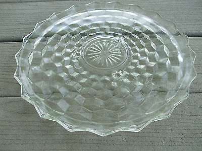 FOSTORIA AMERICAN GLASS  PLATE FOR CHEESE SET MINT