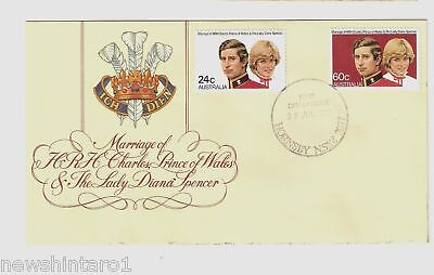 #d32. 1981 Royal Wedding Fdc - Lady Diana & Prince Charles, Hornsby Nsw Cancel