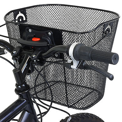 Pedalpro Bike/bicycle Metal Mesh Basket & Quick Release Bracket Shopping Handle