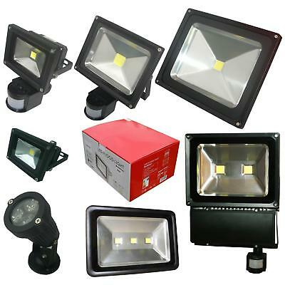 LED Floodlight 10W 20W 30W 40W 50W 100W Outdoor Garden Security PIR Option