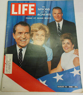 Life Magazine The Nixons And The Agnews Finale At Miami August 1968 Exc 051413R1