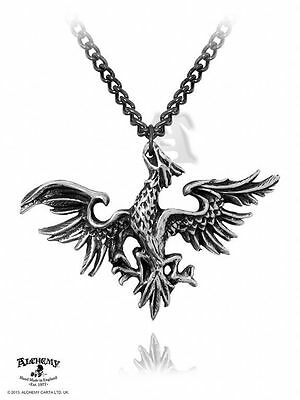 Alchemy Gothic (Metal-Wear) Mettle Eagle Pewter Pendant BRAND NEW