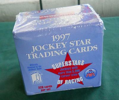 1997 Horse Racing Jockeys Guild Star Trading Cards 220 Complete Set Sealed New