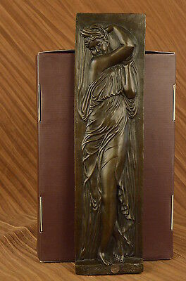 Fine Rare French Bronze Statue Bas Relief Sculpture Figure Figurine Art Nouveau