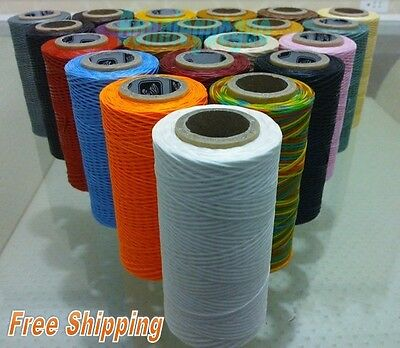 170M x1.5mm Thick (210D) Leather Sewing Waxed Coarse Thread Spool Polyester