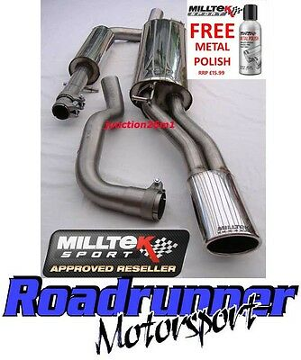 Milltek Octavia RS 1.8T 98-06 Exhaust Stainless Cat Back Res System SSXSK003