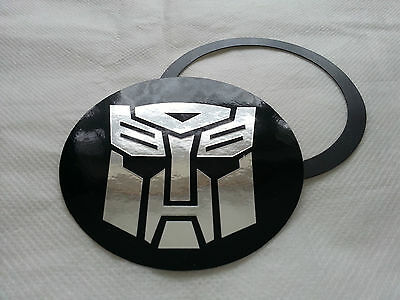 Tax Disc Holder Magnetic Transformers Autobots chrome logo fit alfa romeo, audi