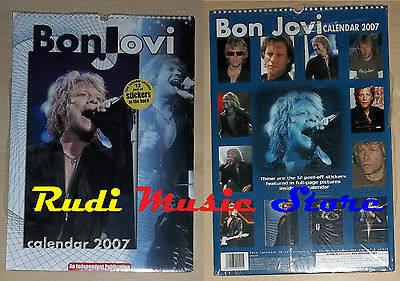 CALENDARIO BON JOVI 2007 no cd dvd lp mc tour live