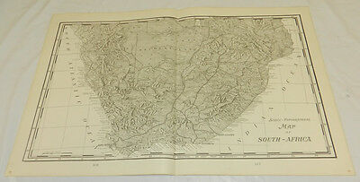 1904 Antique Cram COLOR Scenic-Topographical Map/SOUTH AFRICA/Large 14x22""