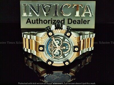 Invicta Men 63mm JoKER Grand Arsenal Swiss Chrono Rose Gold TT SS Watch