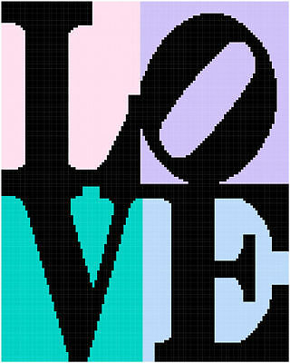 Love Blocks Graph/Chart Afghan Crochet Pattern