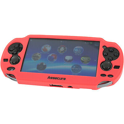 ZedLabz Pro Red Silicone Gel Skin Protector Cover Grip Case For Sony PS Vita