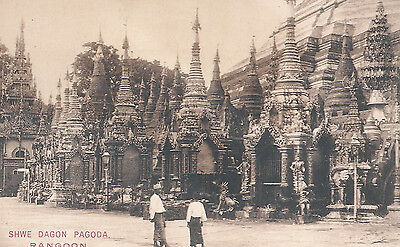 Shwe Dagon Pagoda  Rangoon Burma  Unused Postcard 5143