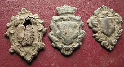 Authentic Artifact > Lot of 3 - 18th to 19th C. Belt Decoration Fitting 0734