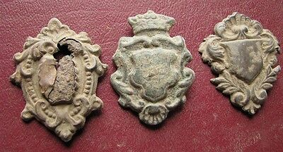 Authentic Artifact   Lot of 3 - 18th to 19th C. Belt Decoration Fitting 0734