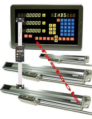 4 Axis Dro Mill Package Linear Glass Scales Digital Readout New Free Shipping