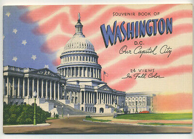 Washington, DC Souvenir booklet - 24 views like linen postcards