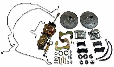 "1955 1956 1957 chevrolet power front disc brake conversion 7"" dual booster"