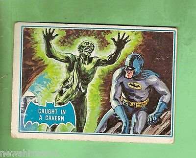 Scanlens 1966 Batman Blue  Bat Card #39B  Caught In A Cavern