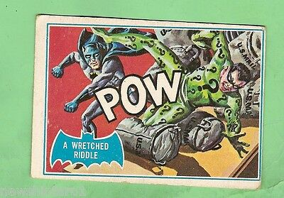 Scanlens 1966 Batman Blue  Bat Card #29B  A Wretched Riddle