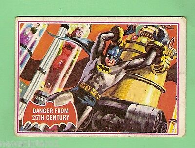 SCANLENS 1966 BATMAN RED BAT CARD #29A  DANGER FROM 25th CENTURY