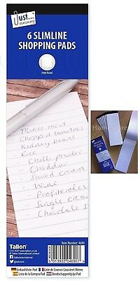 8 X Pads Shopping List Note Memo Writing Book White Paper Lined Paper Jotter 048