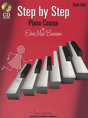 Step by Step Piano Course Book 1 Edna Mae Burnam Learn to Play Method Book/CD