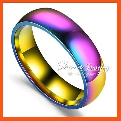 18K WHITE GOLD GF solitaire SIMULATED DIAMOND WEDDING WOMENS GIFT SOLID RING NEW