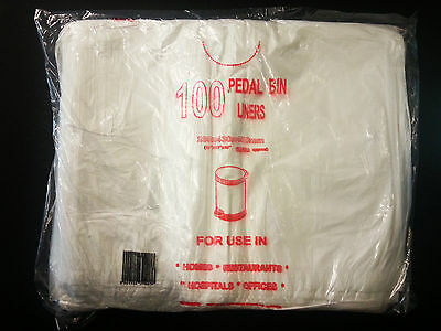 White Pedal Bin Liners (100 bags OR box of 1000)