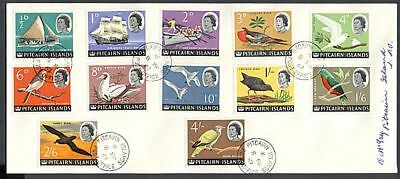 Pitcairn Is 1967 Cover Defn Birds To 4/- (Id:175/pi18)