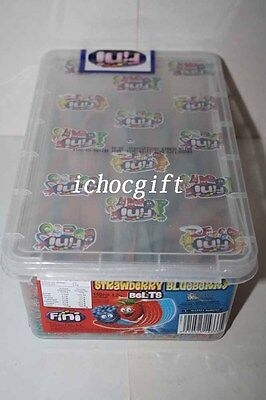 Fini STRAWBERRY & BLUEBERRY BELTS 150 pieces 1.2kg box