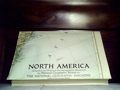 North America, National Geographic Map,1952
