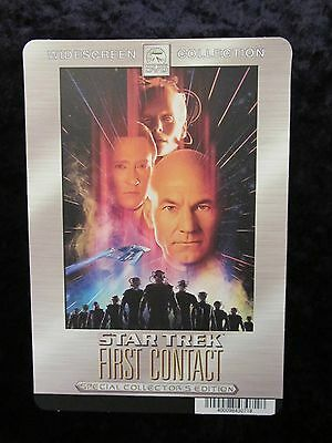 STAR TREK FIRST CONTACT  movie backer card (this is not a dvd)