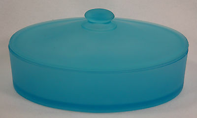 Vintage Candy Box Satin Glass Blue - Large * *
