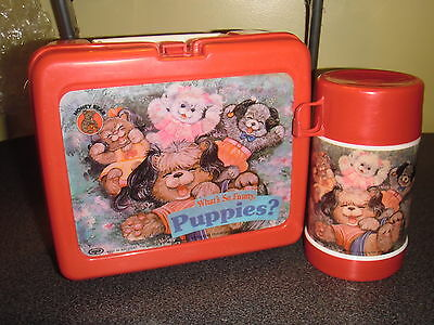 Vintage Made in Mexico What's so Funny, Puppies? Lunchbox W/Thermos Kit (KENY)