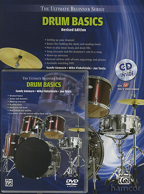 Drum Basics Revised Edition Music Book/DVD/CD Ultimate Beginner Series