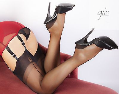 Gio FF Cuban Heel Seamed Stockings Nylons Hosiery 8.5 S - 12.5 XXL Perfects
