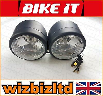 Naked TWIN Headlights (High and Low Beam MOT READY) - HLUTRBLK