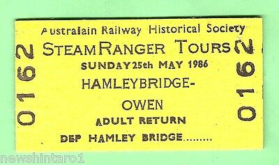 #D38. Australian Railway Ticket - Hamleybridge To Owen  1986