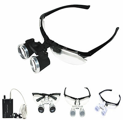 Black Dental Medical Binocular Loupes Optical Glasses 2.5x 3.5x 320mm 420mm top
