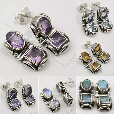 925 Solid Silver Tribal Studs Earrings, Made In India Affordable Wedding Jewelry