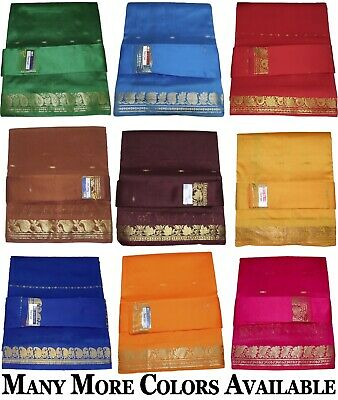 Handloomed Art Silk Saree Sari Zari Work BRAND NEW (with Blouse Piece) SUS