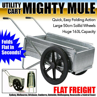 MIGHTY MULE Utility Cart Wheel Barrow Trolley Garden Firewood Wheelbarrow