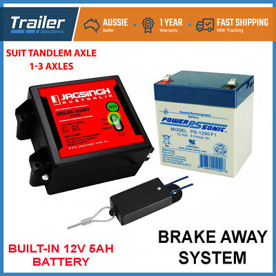Break Away System With Battery & Switch Trailer Float Boat Electric Brakeaway